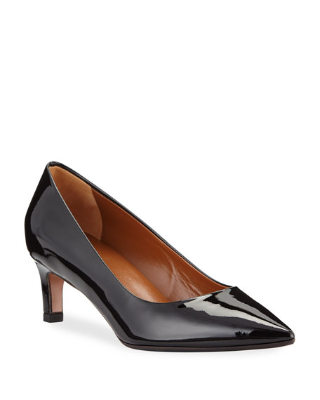 Mariana Patent Leather Pumps in Black