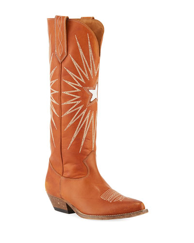 Wish Star Knee-High Cowboy Boot