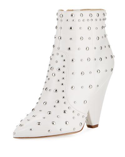 3ad231c40 Sam Edelman Taye Suede Chunky-Heel Bootie from Neiman Marcus - Styhunt