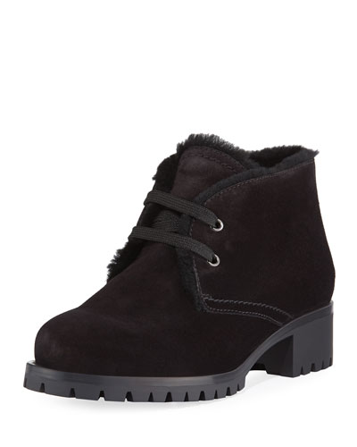 Suede Lace-Up Chukka Booties