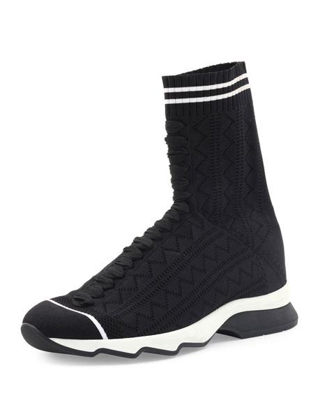 Zigzag-Knit Sock Sneakers