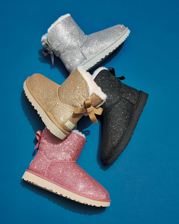 ba9cf62e9 UGG Mini Bailey Bow Sparkle Boots | Neiman Marcus