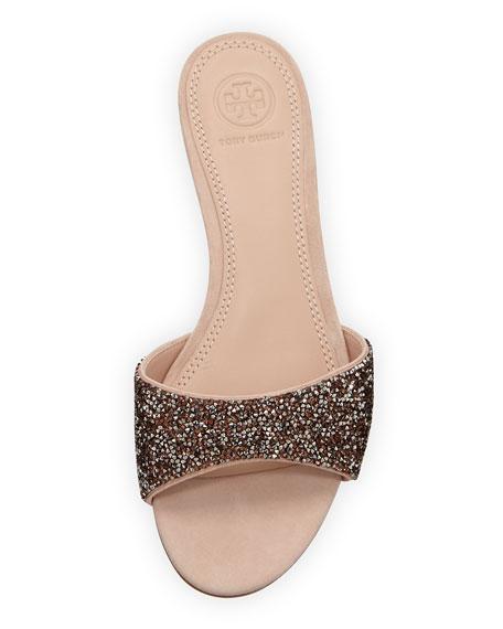 Elodie Glitter Wedge Sandals