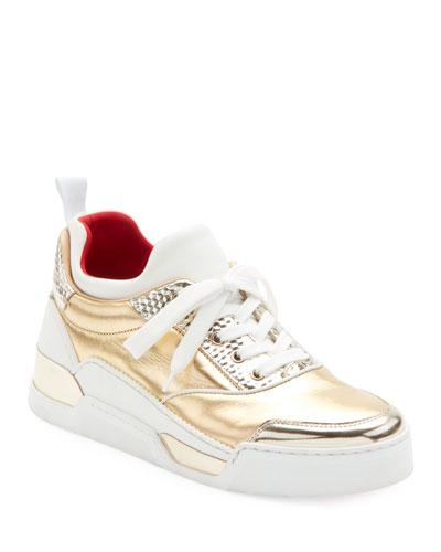 Aurelien Women's Multimedia Metallic Low-Top Sneakers