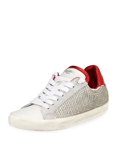 Side-Studded Low-Top Sneakers