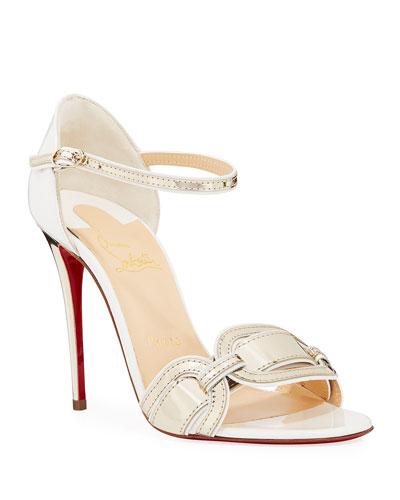 Valparaiso Air-Stripe Patent Red Sole Sandals