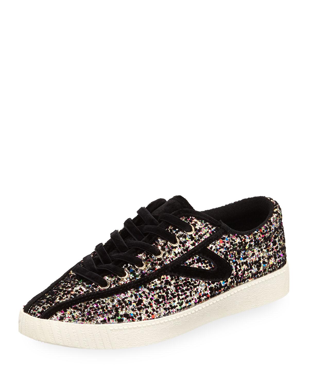 Tretorn NYLitePlus 5 Glitter Sneakers