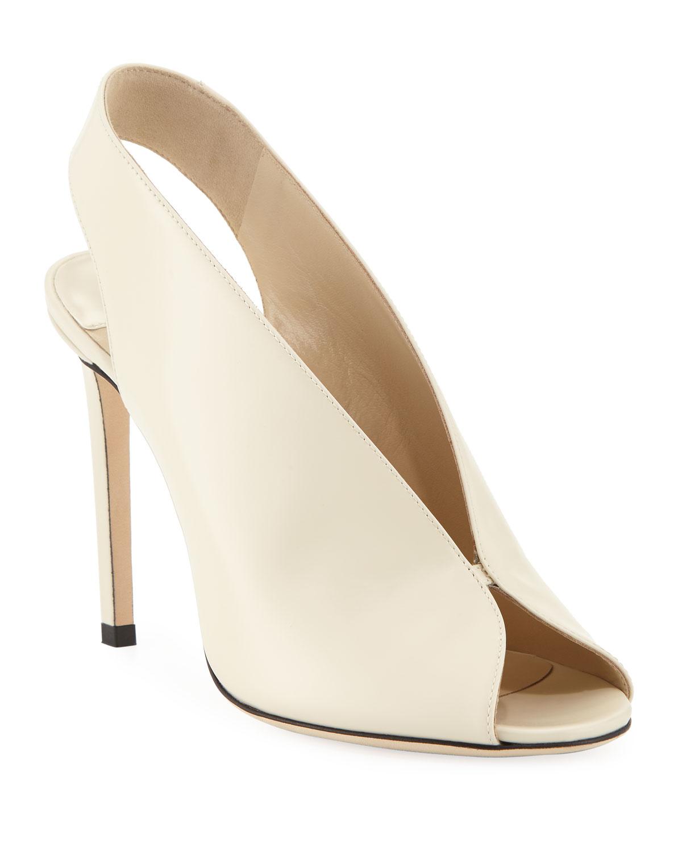 4f89f1c4c9a Jimmy Choo Shar Leather Slingback Sandals