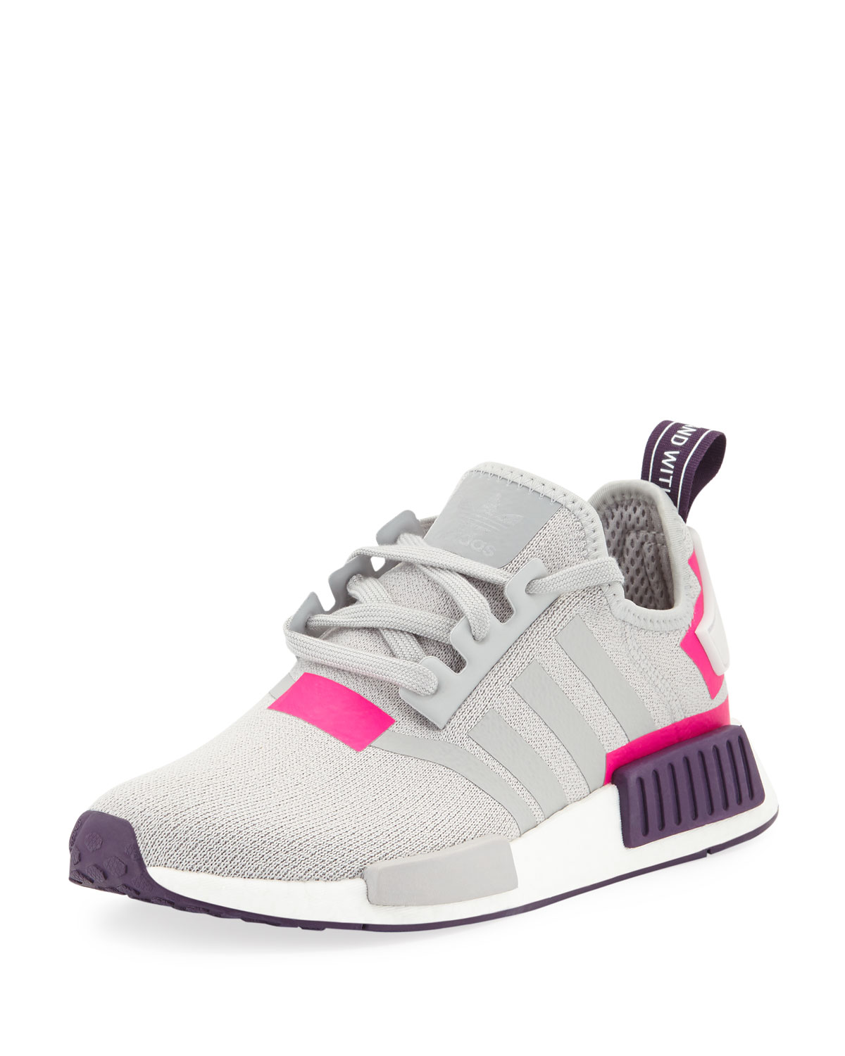 new arrival 1d305 a9109 AdidasNMD R1 Knit Running Sneakers