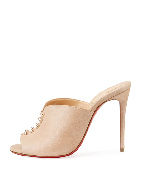 CHRISTIAN LOUBOUTIN Suedes PREDUMULE SUEDE RED SOLE MULE SANDALS