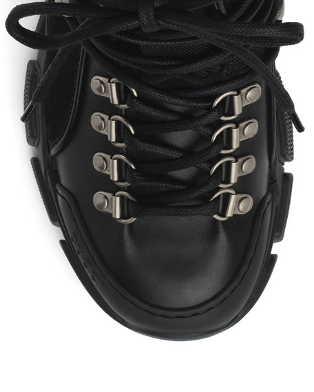 Gucci Flashtrek Shearling-Lined Hiker Boots