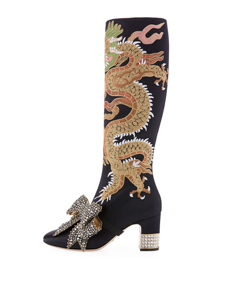 75mm Candy Embroidered Knee Boot