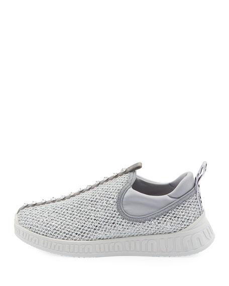 Miu Miu Run Glitter Trainer Sneakers