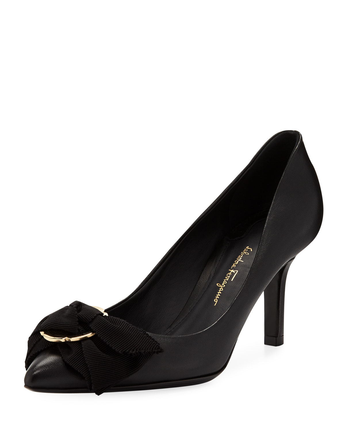 720f04f1d9f Salvatore Ferragamo Talla Mid-Heel Pumps with Bow