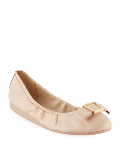 Emory Bow Ballet Flats  Nude