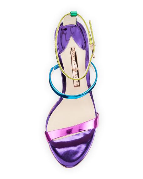 Rosalind Satin Sphere-Heel Sandals