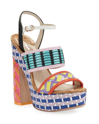 Celia Platform Colorblock Sandals