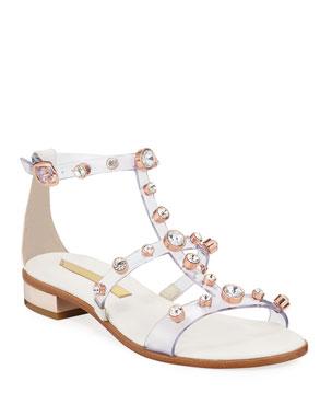 416e99dc7210 Sophia Webster Dina Transparent Crystal-Caged Sandals
