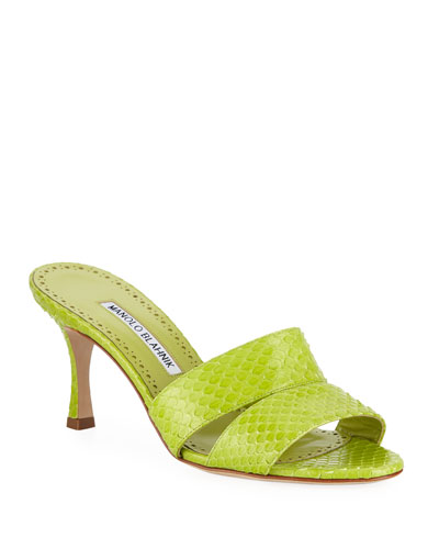 Iacopo Snakeskin Slide Sandals