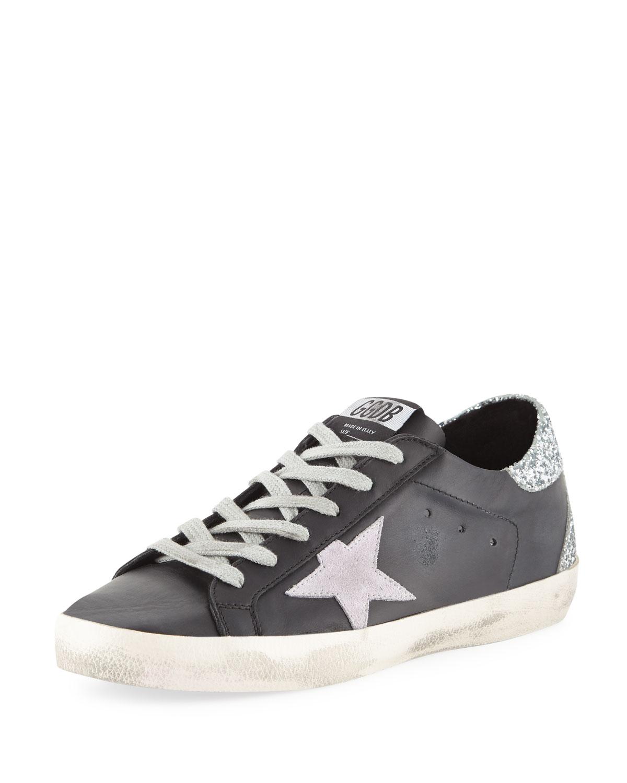 d5027c7b53bd9 Golden Goose Superstar Leather   Glitter Low-Top Sneakers