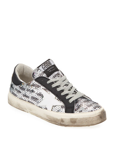 24e3fa64e53 Golden Goose May Rainbow Sequin Star Sneakers from Neiman Marcus ...
