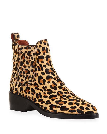 Coach Bowery Fur Chelsea Boots