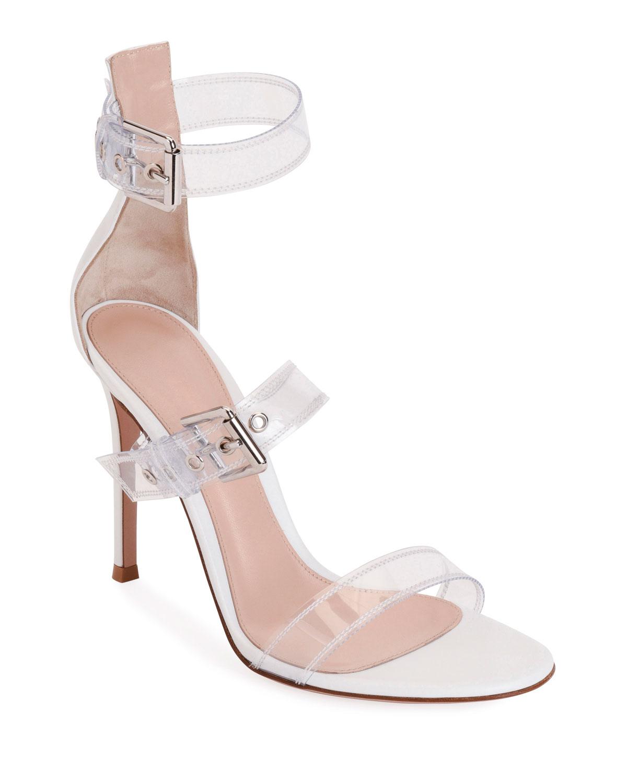 4991cd676e5 Gianvito RossiPlexi Three-Buckle Sandals