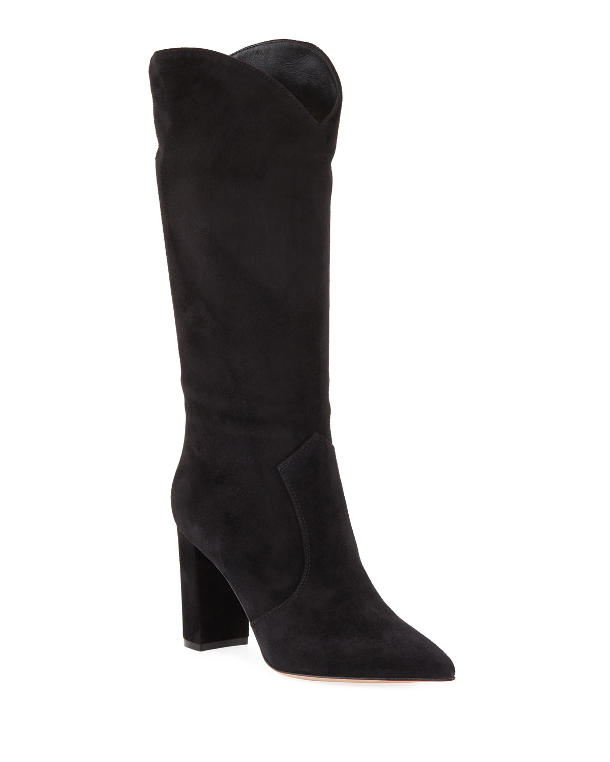 Suede Western Knee Boots by Gianvito Rossi