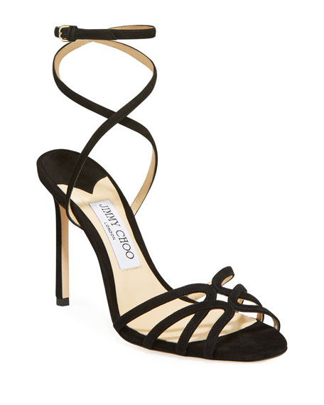 Jimmy Choo Mimi 100mm Suede Sandals