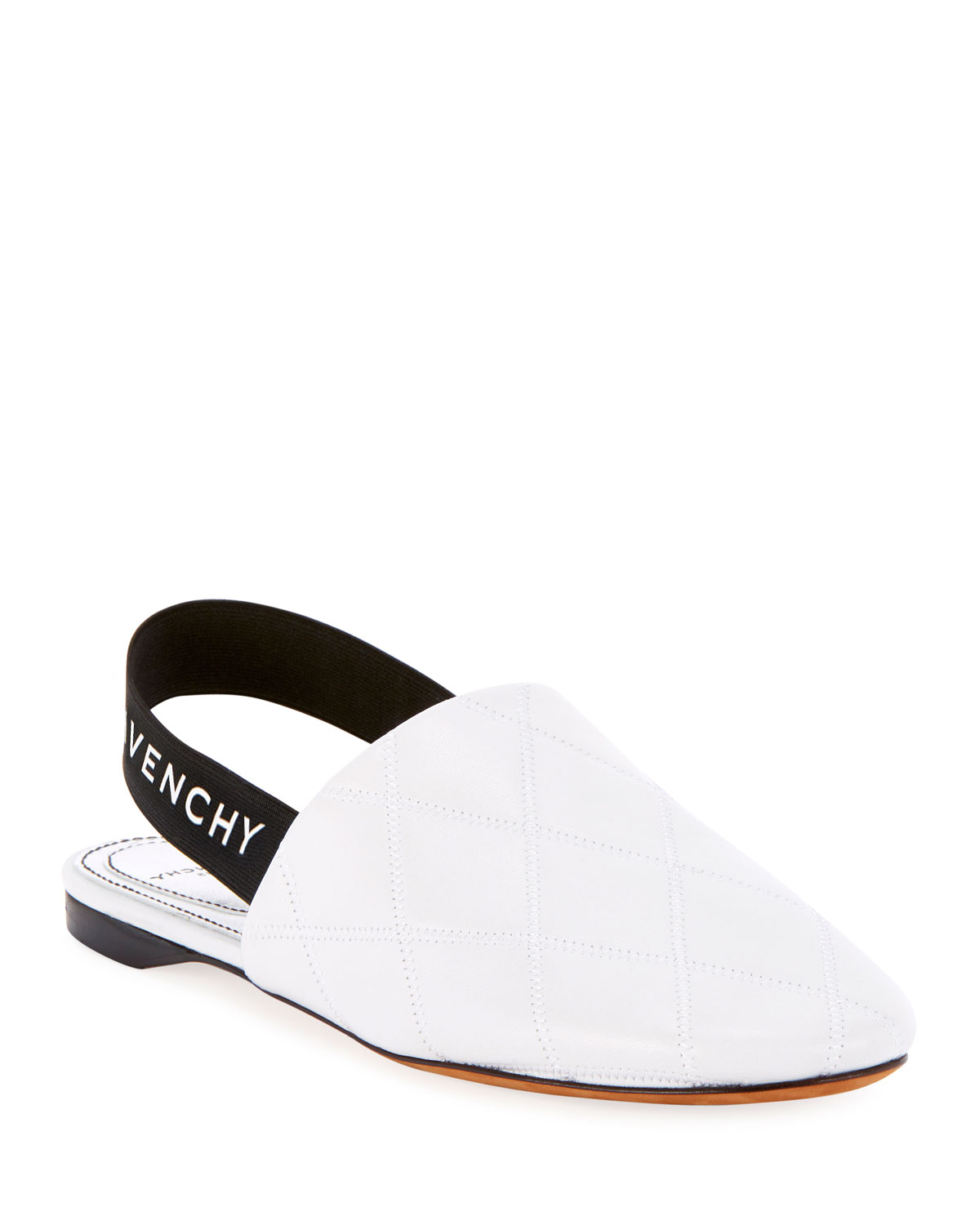 f92a03e2569 Givenchy Rivington Quilted Slingback Flats