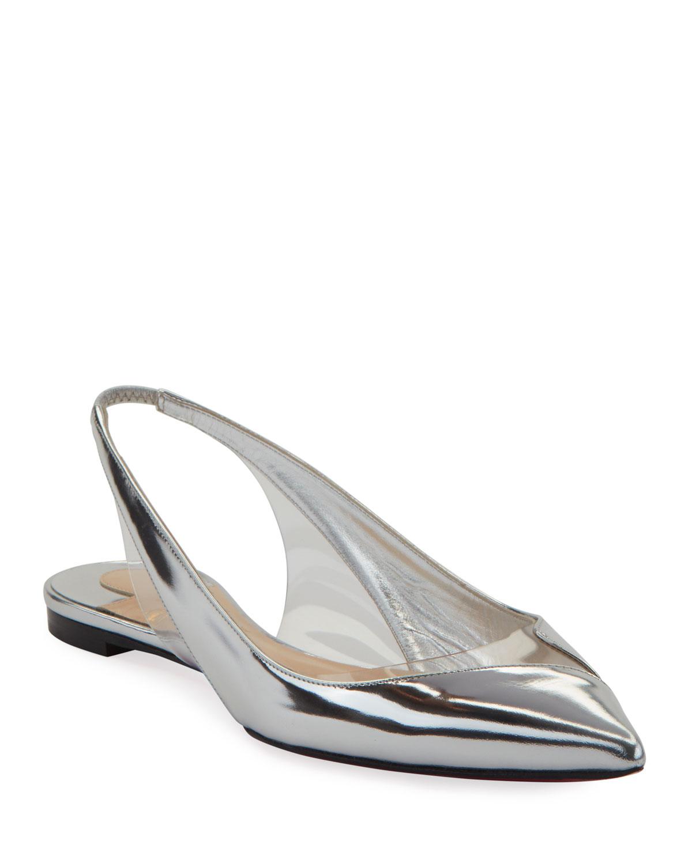 fe8f8c95606d Christian Louboutin V Dec Specchio Red Sole Ballet Flats