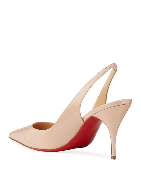 Image 4 of 5: Christian Louboutin Clare Slingback Red Sole Pumps