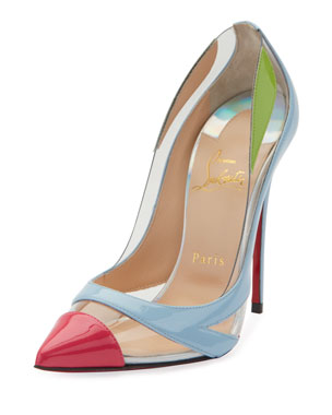 faf4f17ff2cd Christian Louboutin Blake is Back Patent PVC Red Sole Pumps. Favorite.  Quick Look