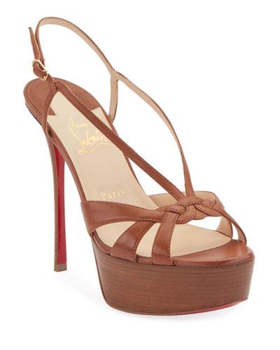 Veracite 130mm Platform Red Sole Slingback Sandals