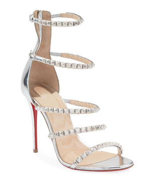 ad0688b34ae0 Christian Louboutin Forever Girl 100 Red Sole Sandals