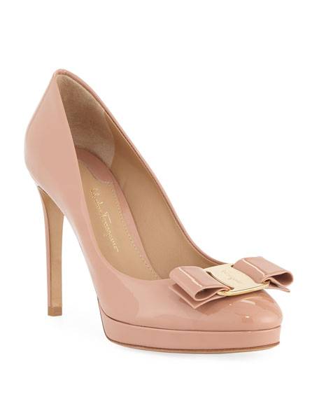 Women'S Osimo Patent Leather High-Heel Platform Pumps in New Blush