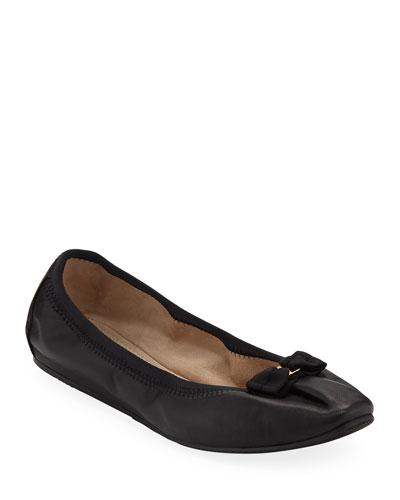 My Joy Leather Slip-On Ballet Flats