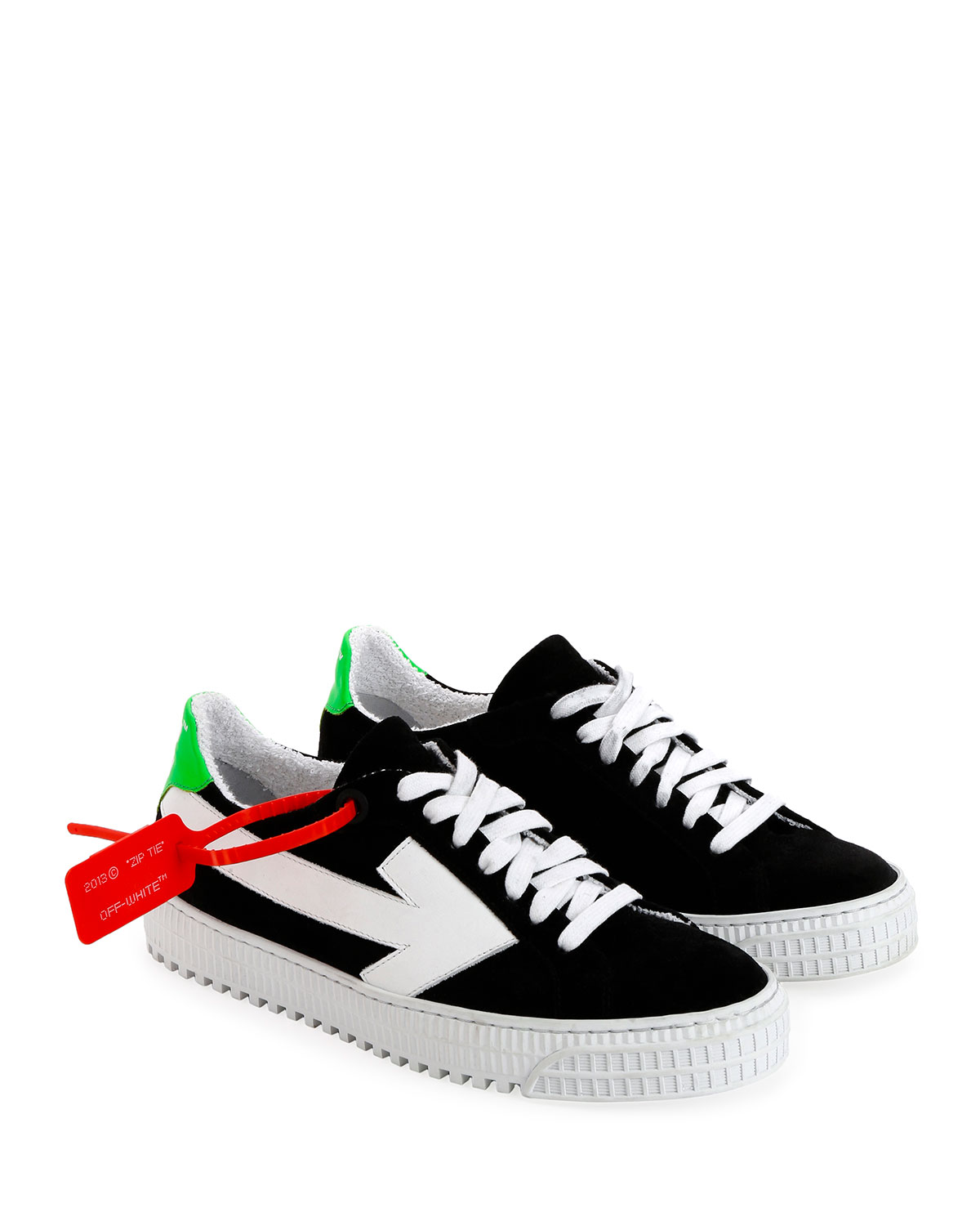 743705b8a71 Off-White Arrow Platform Suede Sneakers