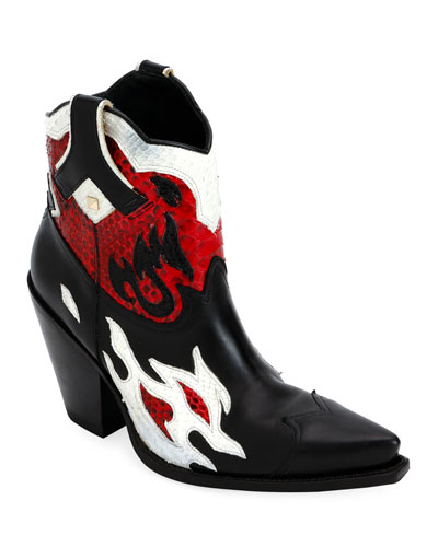 Flames Ranch Western Booties