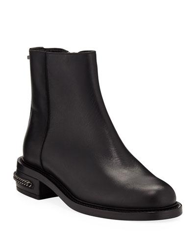 Addison Leather Zip Booties