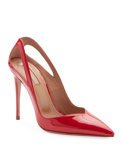 Shiva Patent Cutout Pumps