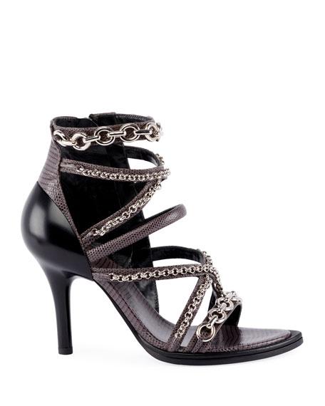 Victoria Wrap Chain Sandals