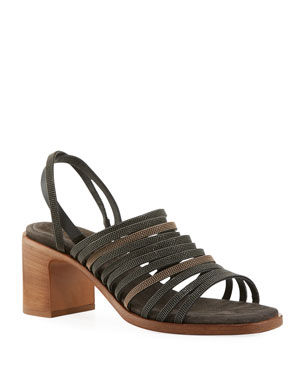 ca52c97f3ccf Brunello Cucinelli Multi-Band Monili City Sandals