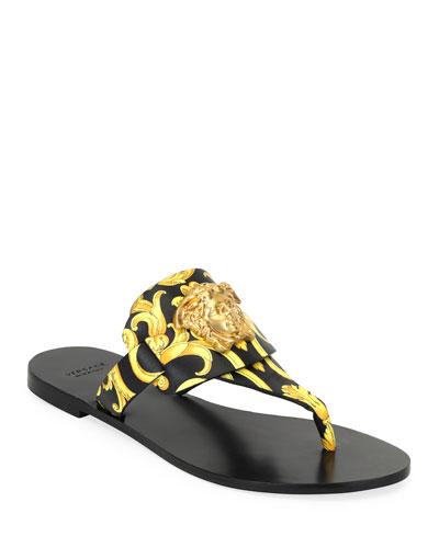Hibiscus Flat Thong Slide Sandals