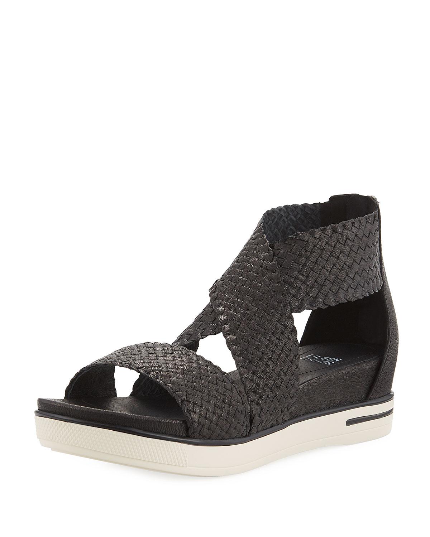 4eb65930bc5 Eileen Fisher Sport Woven Platform Sandals