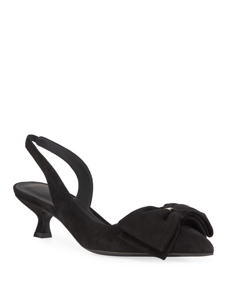 Salvatore Ferragamo Reda Slingback Pumps with Floppy Bow
