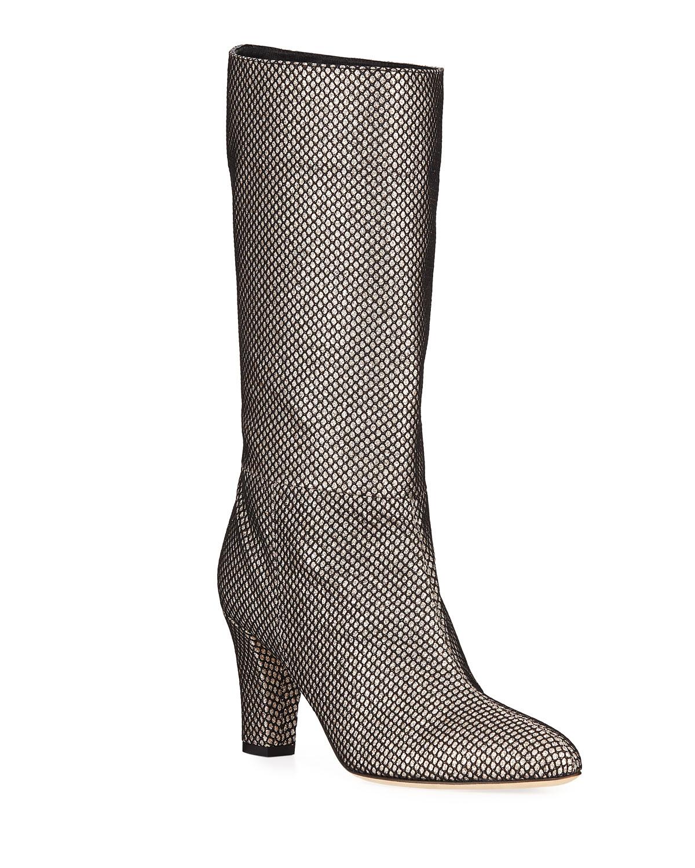 2903883e5ac3 SJP by Sarah Jessica Parker Reign Glitter Mesh Block-Heel Boots ...