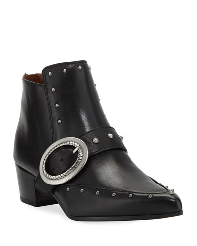 Chandler Pointed Stud Booties