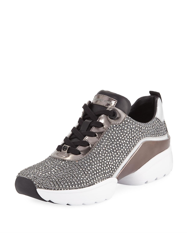 ba7f1a1893f MICHAEL Michael Kors Jada Crystal Trainer Sneakers