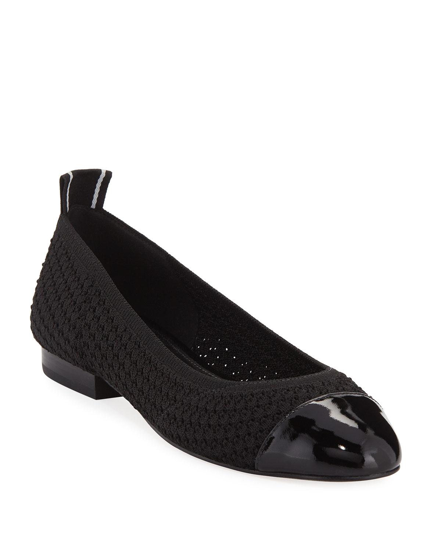 44737985e218 MICHAEL Michael Kors Vicky Knit Cap-Toe Ballet Flats